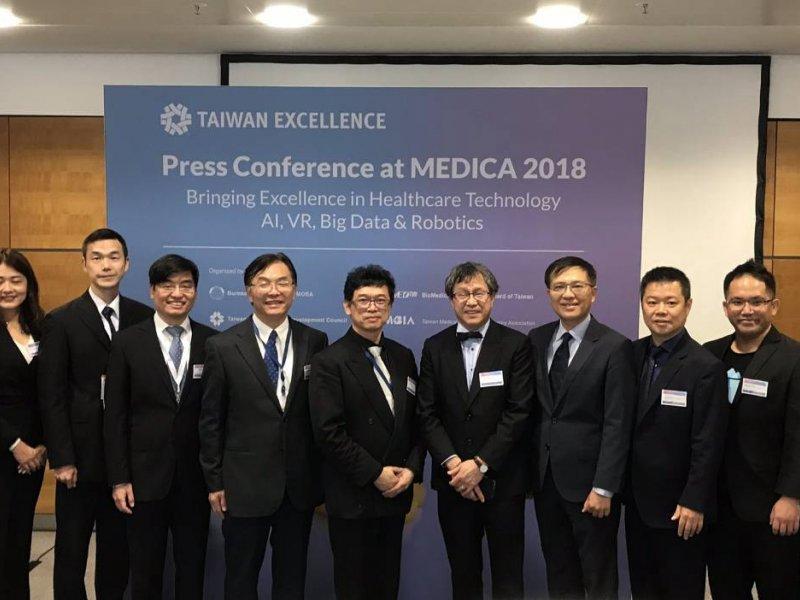 台灣資通訊發威 於MEDICA展現未來虛擬智慧醫療技術。(生醫產業推動方案中心提供)