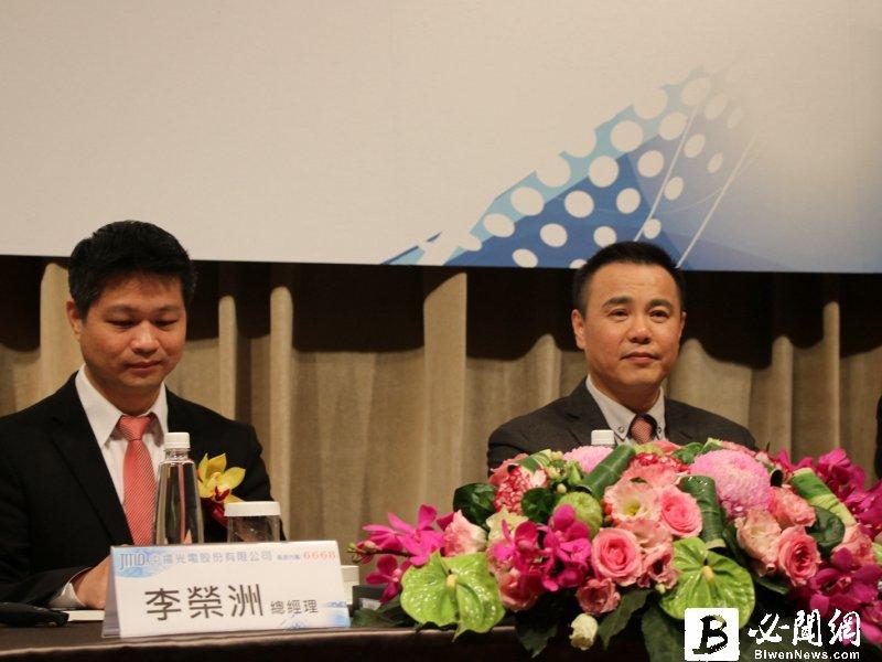 中揚光董事長鄭成田(右)與總經理李榮洲。(資料照)