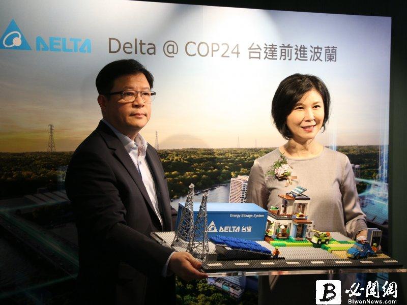 台達明啟程參加COP24 看好電動車將成分散式電網成功關鍵。(資料照)