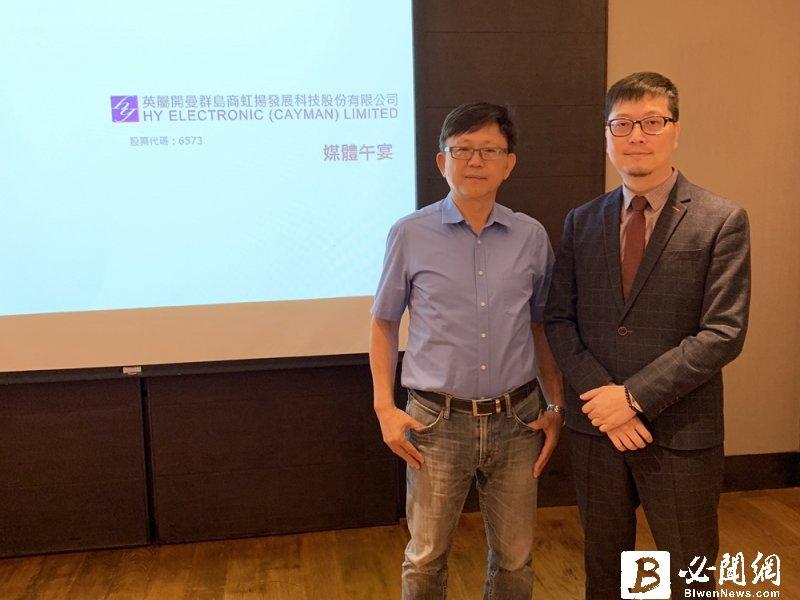 虹揚-KY董事長方丁玉(左)與發言人程御峰。(資料照)