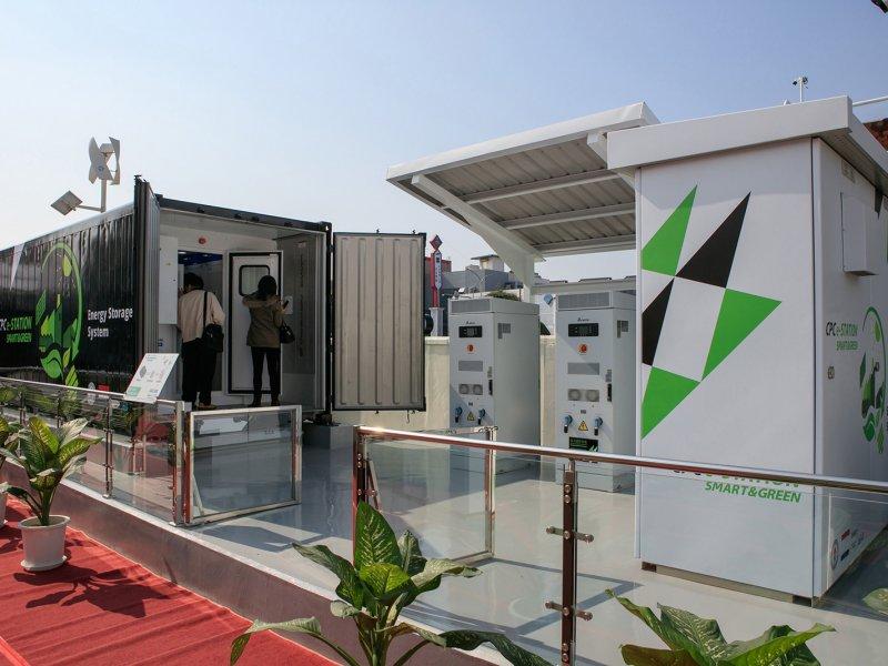 台達推動台灣電動交通載具基礎建設 助中油打造儲能系統。(台達提供)