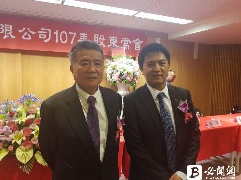 豐興董事長林明儒(左)與總經理林大鈞。(資料照)