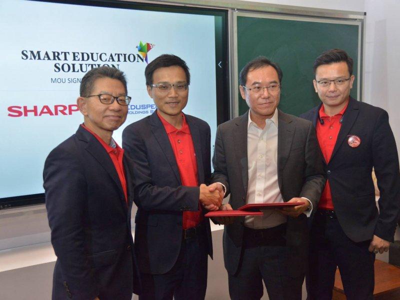 夏普馬來西亞與Eduspec公司簽署合作備忘錄。(夏普提供)