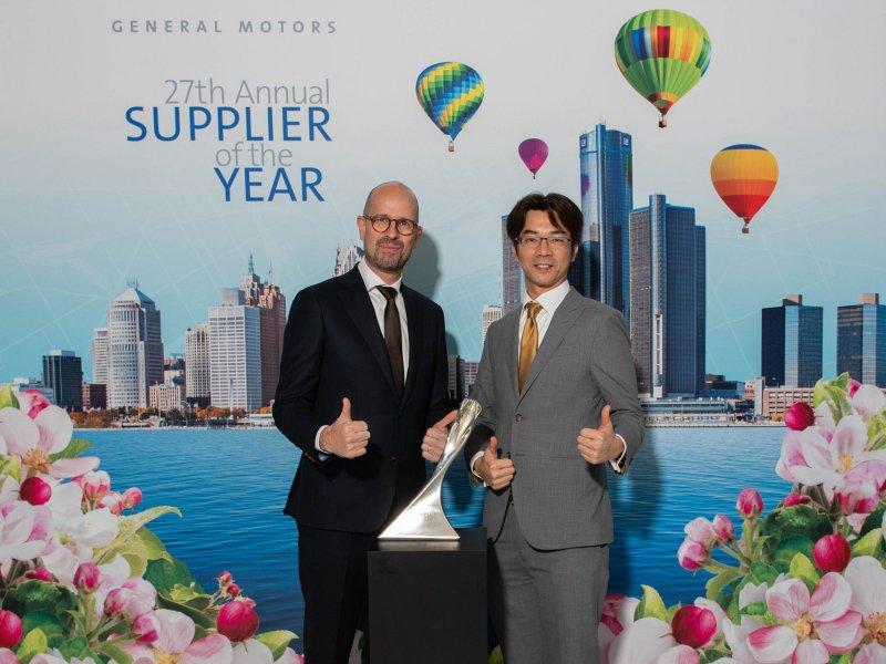 群創光電獲美國通用汽車頒發供應商創新獎。(群創提供)
