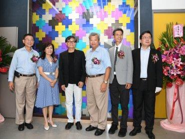 成功大學中鋼金屬實驗室「鈦金華彩」藝術形象牆揭幕