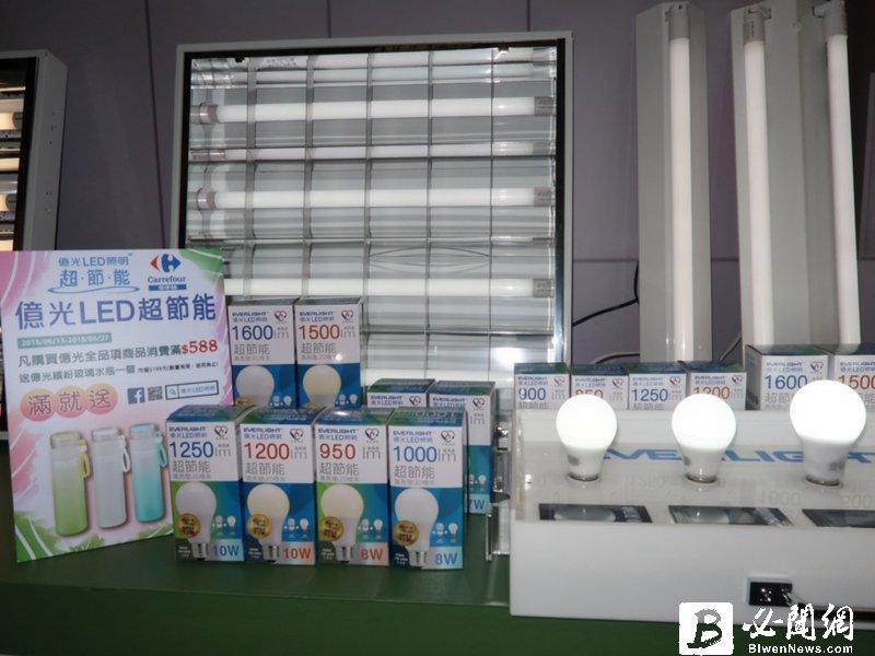 億光廣州照明展主打園藝照明及紫外光系列元件。(資料照)