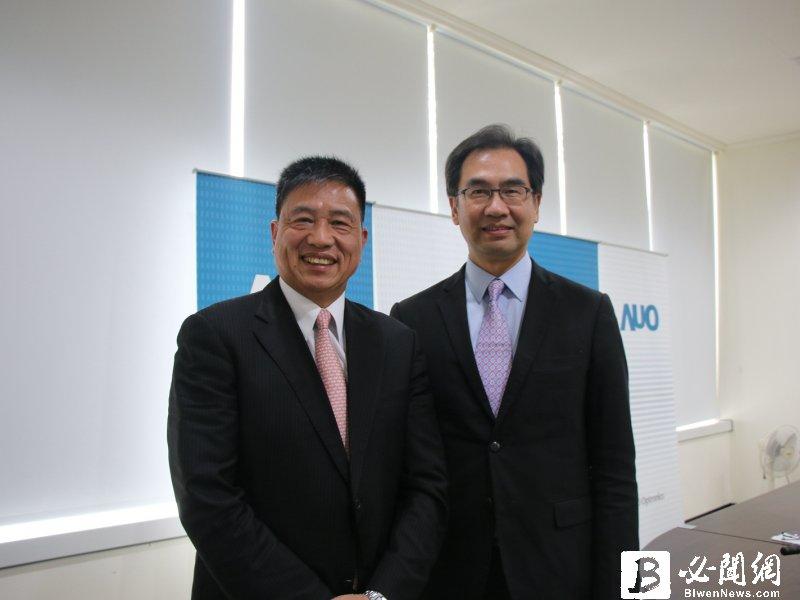 友達董事長彭双浪(左)與總經理蔡國新。(資料照)