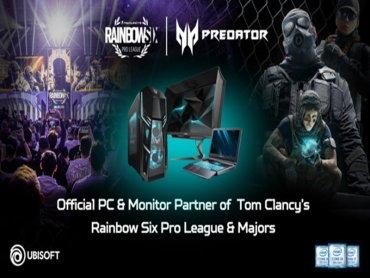 宏碁Predator成為全新改版《虹彩六號》職業電競聯賽及國際錦標賽的官方電腦和顯示器贊助品牌