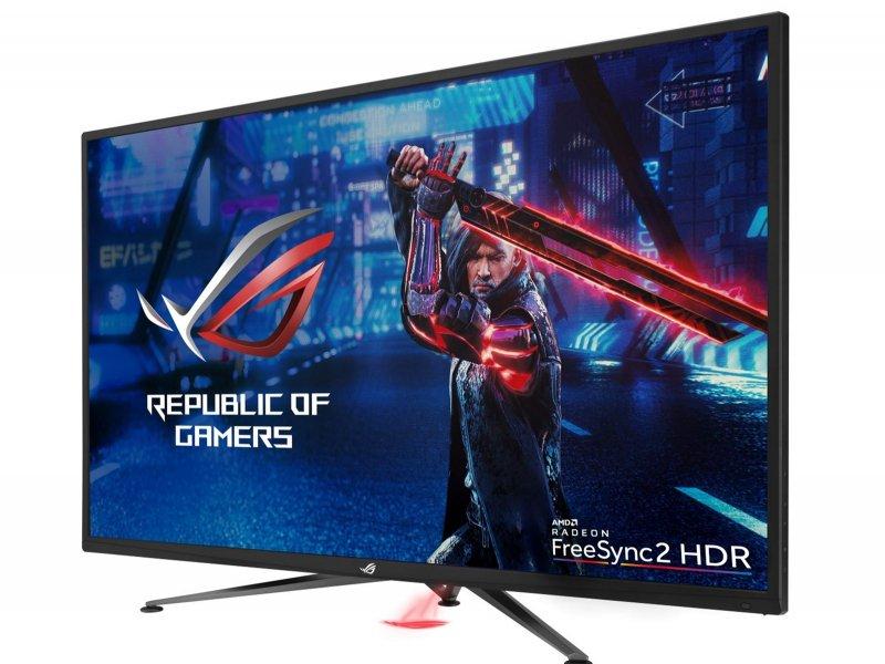 全球最大4K UHD FreeSync 2 HDR電競螢幕 華碩ROG Strix XG438Q磅礡登場。(華碩提供)
