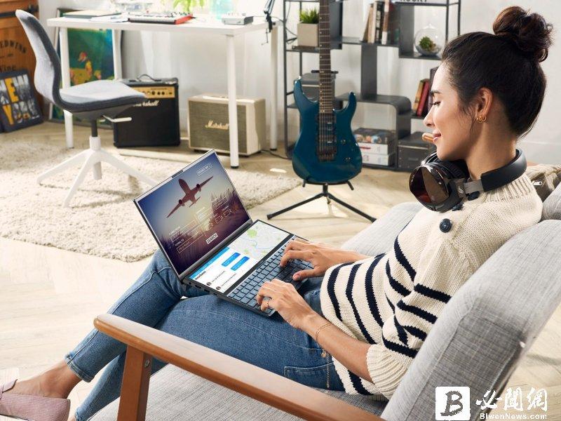ASUS ZenBook Duo雙螢上市 。(資料照)