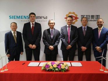 西門子歌美颯與台灣在地供應商永冠集團簽訂本土化風機鑄造合約