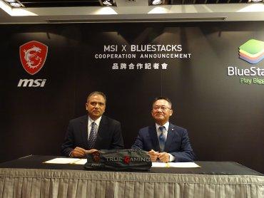 MSI微星科技跨界手遊與模擬器龍頭BlueStacks結盟合作