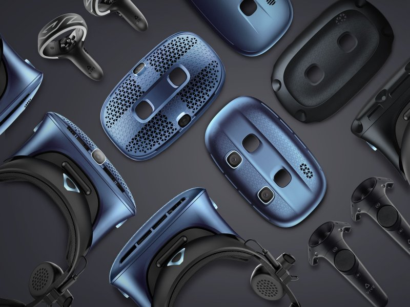 HTC推出完整的VR頭戴式顯示器VIVE Cosmos系列。(廠商提供)