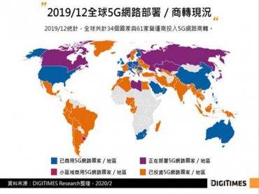DIGITIMES Research:武漢肺炎疫情打亂中國5G發展步調 然2020年資本支出仍維持小幅增長