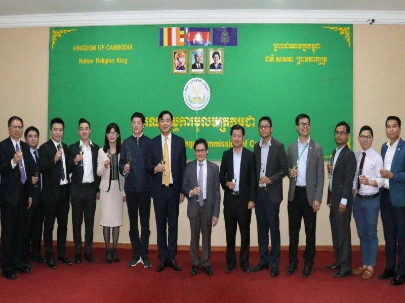 樺晟與柬埔寨證券交易委員會簽署MOU。(樺晟提供)