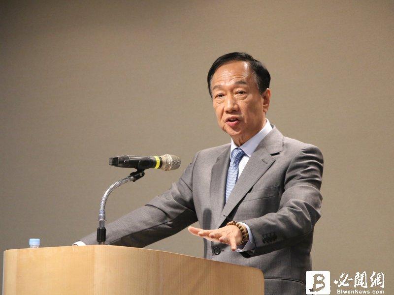 鴻海創辦人郭台銘:比較擔心日韓供應鏈及美國消費市場下滑對經濟的衝擊。(資料照)