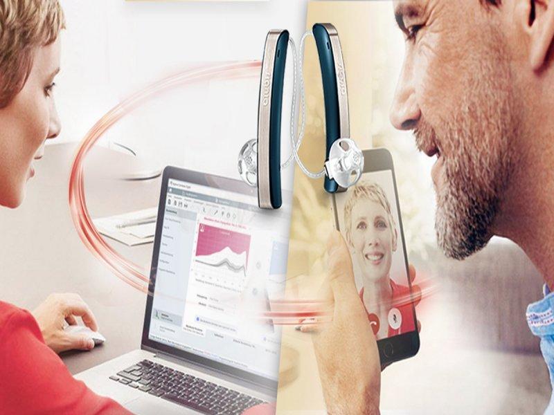 明基集團虹韻助聽器防疫服務大躍進 啟動聽力雲端照護。(廠商提供)
