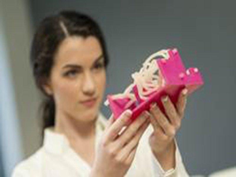 震旦集團搶攻醫療3D列印巿場 協助還原新冠肺炎感染肺部3D模型。(廠商提供)