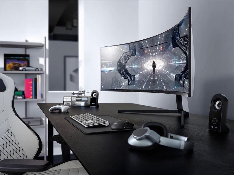 全球首款雙2K Odyssey G9、玩家首選Odyssey G7曲面電競螢幕。(廠商提供)