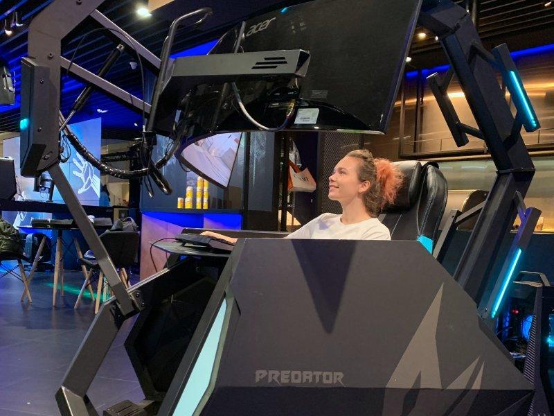 宏碁品牌旗艦精品館 宏碁二代電競座艙Predator Thronos Air正式亮相。(宏碁提供)