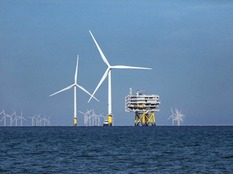 離岸風電國產化再邁進一步 東元電機統包彰芳暨西島風場陸域工程開工 可供60萬戶用電。(示意圖)