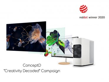 宏碁創作者品牌ConceptD榮獲兩項紅點品牌與傳達設計大獎
