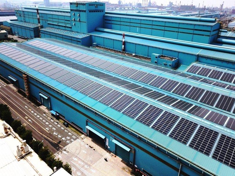 中鋼積極推動減碳工作 9年完成1142件減碳專案 年減147.8萬噸二氧化碳當量。(中鋼提供)