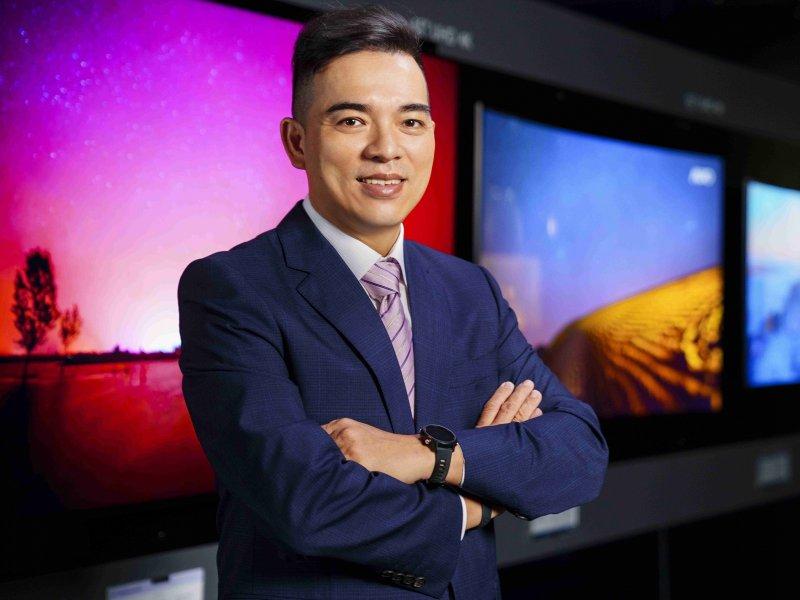 友達總座柯富仁:5G、AI及創新顯示技術的結合 將為後疫情時代的「新常態(new normal)」提供完整解決方案。(友達提供)