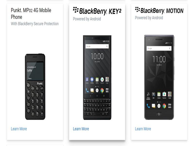 黑莓機也要推出5G版本並搭載實體鍵盤 鴻海旗下富智康負責製造。(摘自官網)