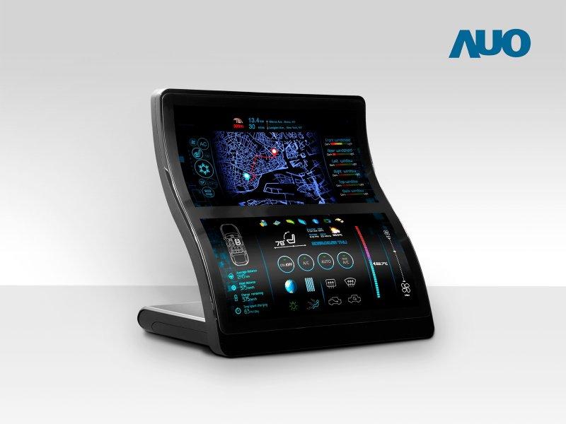 友達8K電視面板、圓形顯示器與柔性Micro LED顯示器獲2020顯示器元件產品技術獎。(友達提供)