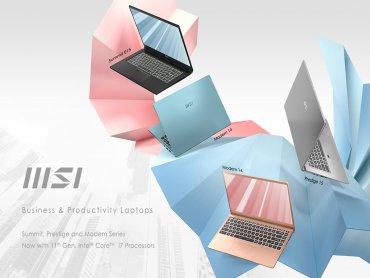 微星進軍商務筆電市場 Summit、Prestige和Modern三大系列強勢登場