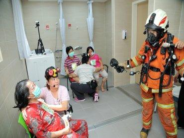 美國消防工程師學會台灣分會與和頌長照機構攜手合辦消防演練 強化自主應變能力
