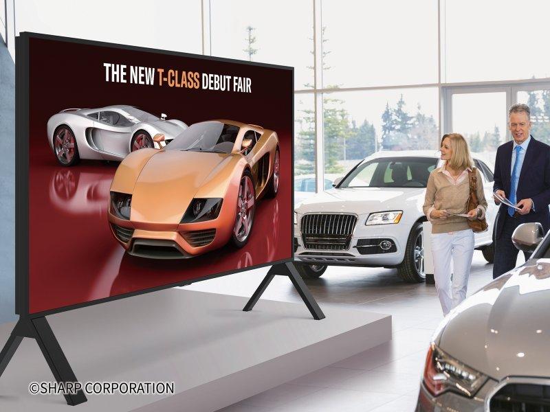 夏普推出業界最大120吋8K液晶顯示器 讓8K影像技術在超大屏幕上顯示超高清圖像。(夏普提供)