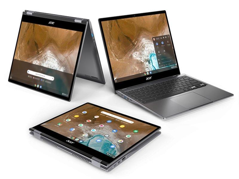 宏碁可翻轉Chromebook新品 台灣開賣。(宏碁提供)