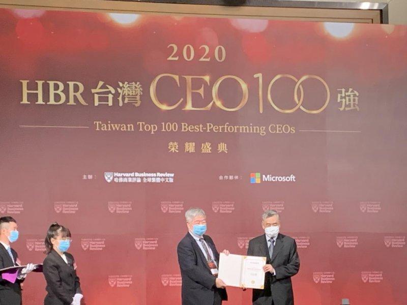 信邦董座王紹新獲頒2020 台灣《哈佛商業評論》CEO 100強。(廠商提供)