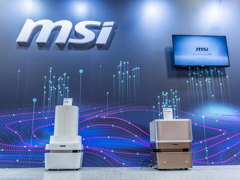 MSI微星AMR無人車隊智慧轉型 助粗力產業自動化。(微星提供)