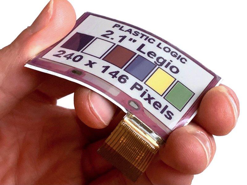 E Ink元太科技與Plastic Logic攜手合作發表全球首款軟性全彩電子紙技術。(廠商提供)
