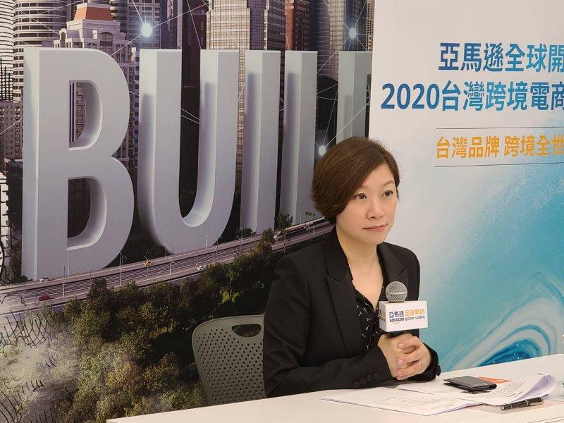 亞馬遜全球開店台灣新任總經理Amanda Chen。(魏鑫陽攝)