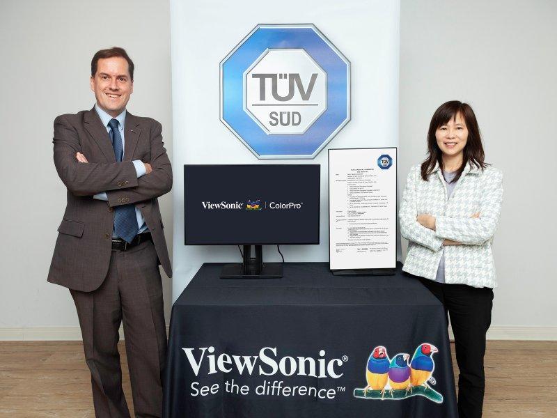 ViewSonic攜手TÜV SÜD合作為顯示器色盲友善設計訂定測試方法。(廠商提供)