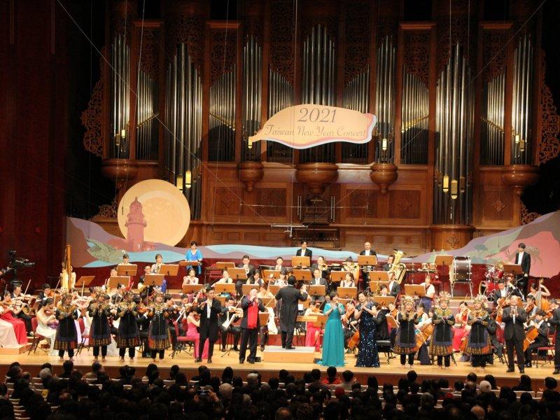 2021《臺灣的聲音 新年音樂會》圓滿落幕 施振榮:讓台灣的庶民音樂會傳揚四海 感動全球華人。(主辦提供)