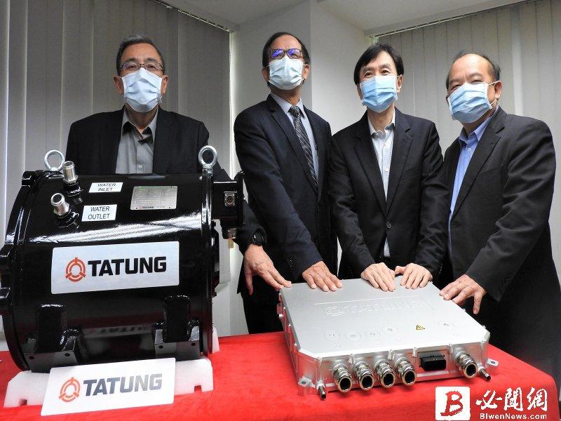 台灣第一套國產電動巴士動力系統 大同測試認證成功。(資料照)