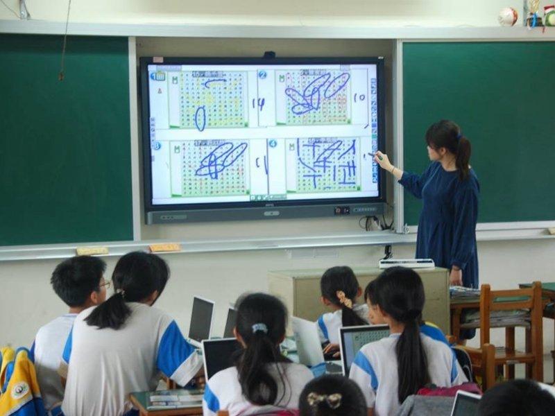 BenQ教育互動觸控顯示器 台灣智慧教室市占第一。(廠商提供)