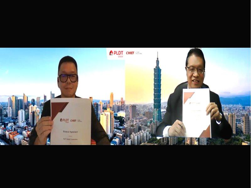 是方開啟東協10國合作大門 簽約結盟菲律賓電信PLDT。(是方提供)
