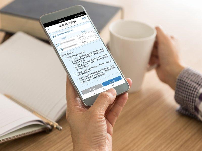 北富銀推出非約定轉帳「一鍵調額」新功能 放寬行動轉帳限額至單筆15萬、單日30萬。(廠商提供)