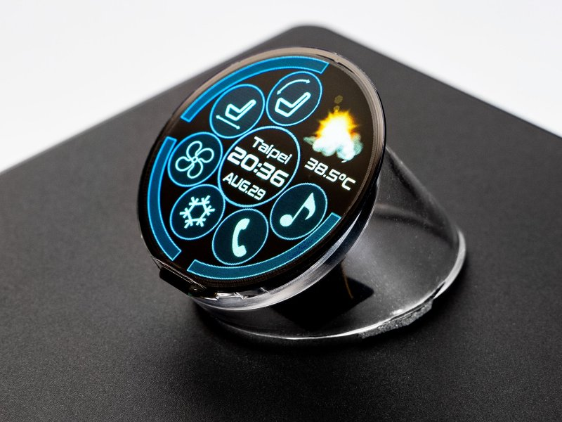 友達ALED系列顯屏驚豔首發 全球最高像素密度正圓形Micro LED顯示器首度亮相。(友達提供)