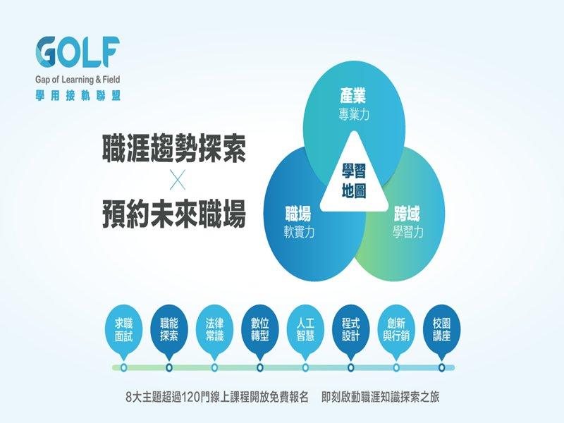 GOLF學用接軌聯盟 全新官網上線 導入數據庫推出學習地圖。(GOLF提供)