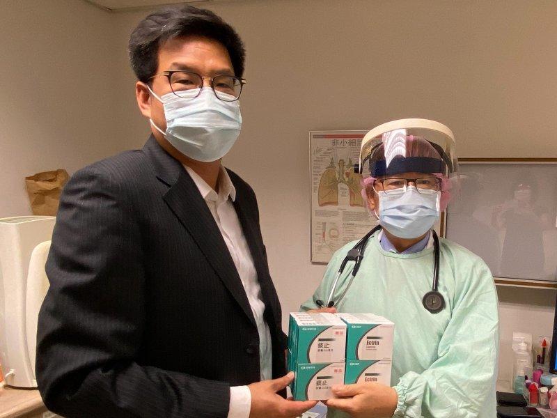 友華祛痰藥捐贈獲准 可幫助近3300位新冠肺炎病人。(友華提供)