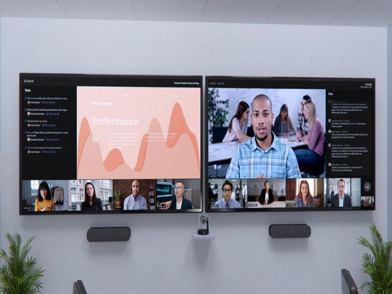 微軟升級 Microsoft Teams 會議室及推出 Microsoft Viva 全新功能。(廠商提供)