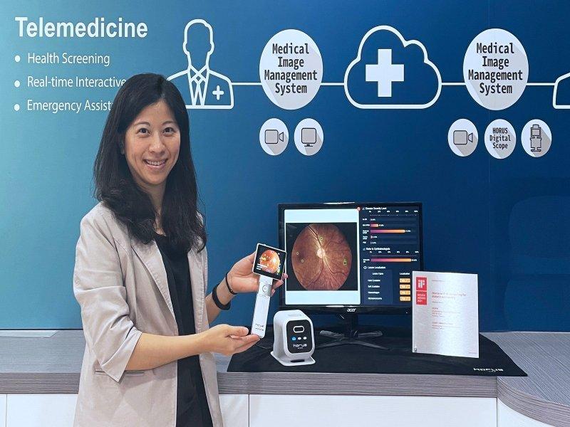 晉弘科技視網膜AI輔助診斷軟體獲TFDA第二級醫療器材軟體許可證。(廠商提供)
