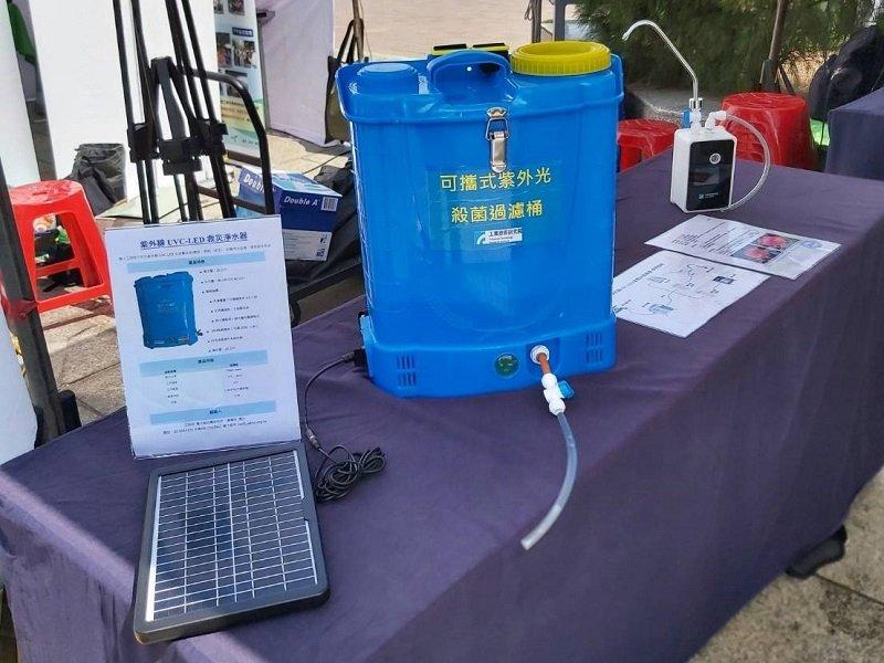 工研院用科技做公益 以國際獲獎技術解決災區飲水問題。(工研院提供)